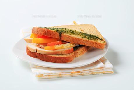 Turkey sandwichの写真素材 [FYI00642621]