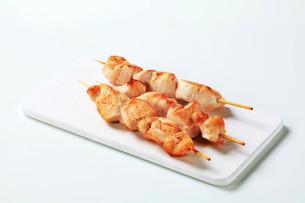 Chicken skewersの写真素材 [FYI00642667]
