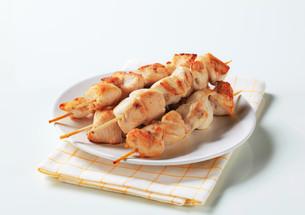 Chicken skewersの写真素材 [FYI00642673]