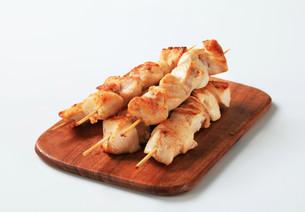 Chicken skewersの写真素材 [FYI00642674]