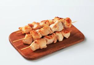 Chicken skewersの写真素材 [FYI00642676]