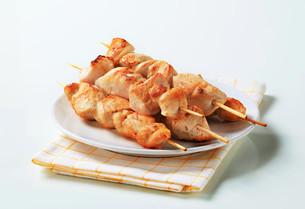 Chicken skewersの写真素材 [FYI00642677]