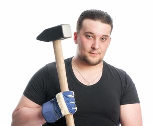 craftsmen with sledgehammerの素材 [FYI00642795]