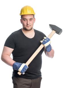 craftsmen with sledgehammerの素材 [FYI00642797]