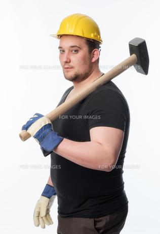 craftsmen with sledgehammerの素材 [FYI00642800]