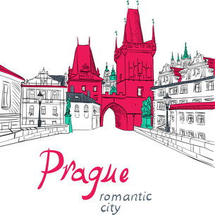Charles Bridge in Pragueの写真素材 [FYI00642829]