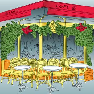 vector sketch of the Parisian cafeの写真素材 [FYI00642832]