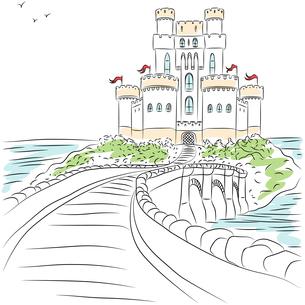 Vector medieval castleの写真素材 [FYI00642834]