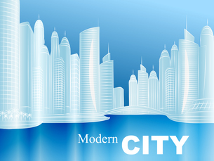 vector sketch of a modern cityの写真素材 [FYI00642836]
