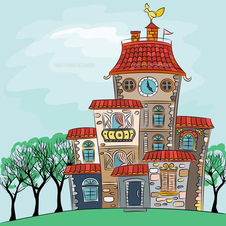 Vector fairytale multicolored houseの写真素材 [FYI00642839]