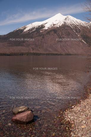 Lake McDonald Glacier National Parkの写真素材 [FYI00643214]