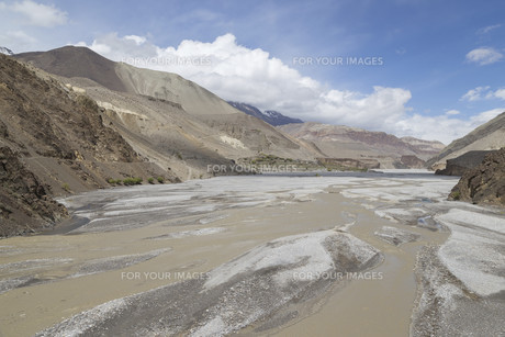 Kagbeni city in lower Mustang district, Nepalの写真素材 [FYI00643346]