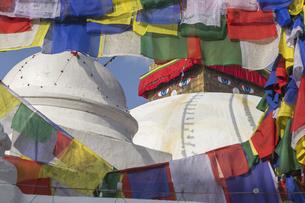Boudhanath Stupa in Kathmandu, Nepalの写真素材 [FYI00643347]
