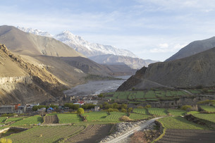 Kagbeni city in lower Mustang district, Nepalの写真素材 [FYI00643357]