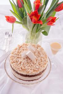 cheese almond cakeの写真素材 [FYI00643471]