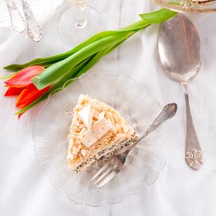cheese almond cakeの写真素材 [FYI00643472]