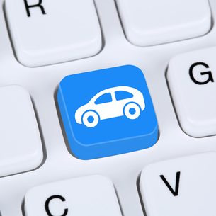 buy internet concept car or vehicle for sale online on computerの写真素材 [FYI00643528]