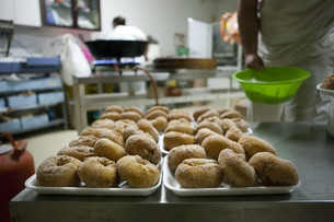 Spanish typical fried donutsの写真素材 [FYI00643550]