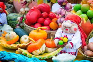 Harvest vegetables sold at the fairの写真素材 [FYI00643577]