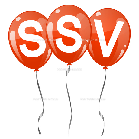 colored balloons with text ssvの素材 [FYI00643689]