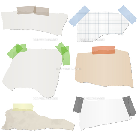 collection scrap of paperの写真素材 [FYI00643803]