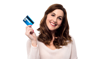 Shop easy with credit card.の写真素材 [FYI00644105]