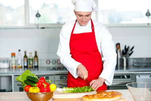 Chef preparing the dishの写真素材 [FYI00644165]
