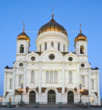 Cathedral of Christ the Saviour in Moscow, Russiaの写真素材 [FYI00644220]