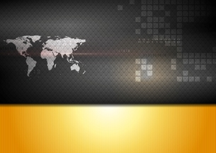 Abstract world map technology backgroundの写真素材 [FYI00644312]