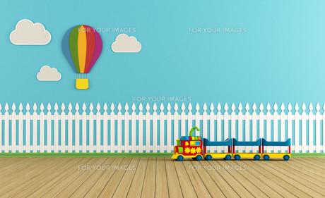 Empty colorful playroomの写真素材 [FYI00644363]