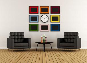 Modern living roomの写真素材 [FYI00644364]