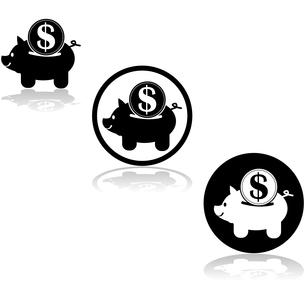 Piggy bank iconの写真素材 [FYI00644578]