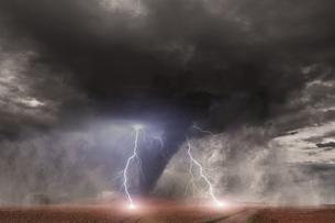 Large Tornado disasterの写真素材 [FYI00644635]