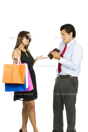 Wife Demanding No Money Poor Husband Shopping Vの写真素材 [FYI00644699]