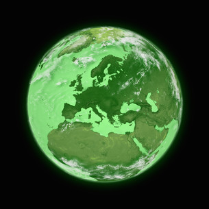 Europe on planet Earthの写真素材 [FYI00644775]