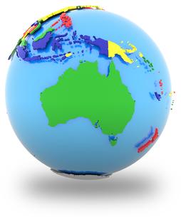Australia on the globeの写真素材 [FYI00644789]