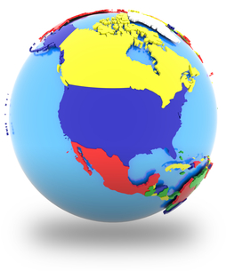 North America on the globeの写真素材 [FYI00644790]