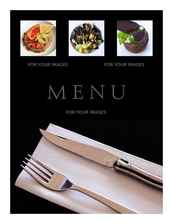 Restaurant menuの写真素材 [FYI00644801]