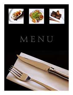 Restaurant menuの写真素材 [FYI00644802]