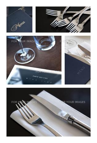 Table set and menuの写真素材 [FYI00644825]