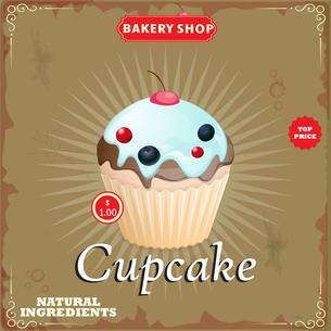 Cake in Retro Styleの写真素材 [FYI00644835]