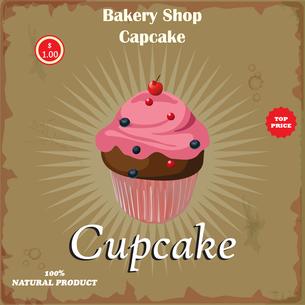 Cake in Retro Styleの写真素材 [FYI00644837]