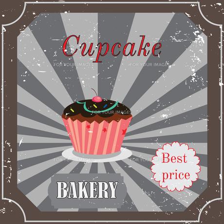 Vintage cupcake poster designの写真素材 [FYI00644838]