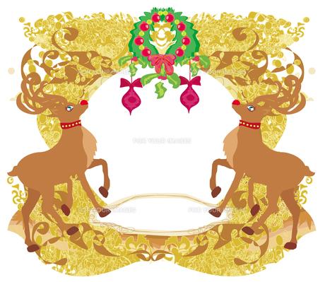 reindeer christmas card designの素材 [FYI00644859]