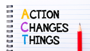 Act as Action Changes Things Textの写真素材 [FYI00645047]
