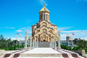 Tbilisi Cathedral, Georgiaの写真素材 [FYI00645118]