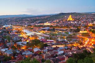 Tbilisi panorama, Georgiaの写真素材 [FYI00645123]