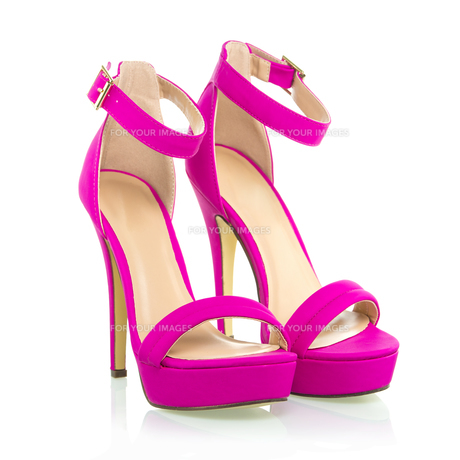 Fashionable High Heels Shoe in pink, XXXL imageの写真素材 [FYI00645212]