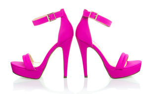 Fashionable High Heels Shoe in pink, XXXL imageの写真素材 [FYI00645214]