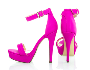 Fashionable High Heels Shoe in pink, XXXL imageの写真素材 [FYI00645215]